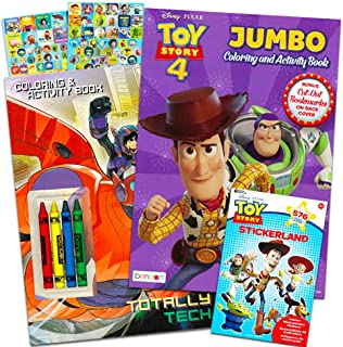 Disney Pixar Toy Story 4 Coloring and Activity Book Bundle with Crayons and Over 550 Toy Story Stickers (Toy Story Party Supplies)