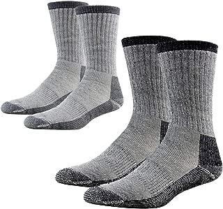 Merino Wool Hiking Socks, RTZAT Unisex Outdoor Thick Cushioned Thermal Moisture Wicking Camping Crew Socks,1/2/4 Pairs