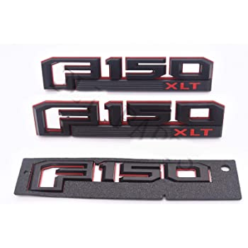 3x OEM Black F150 Ecoboost Emblems Side Fender F150 Tailgate Badges 3D Logo Replacement for F-150 Genuine Parts