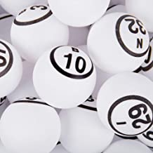 MR CHIPS Professional Ping Pong Balls/Bingo Balls for Manual Bingo Cages - Single & Double Side Numbered and Matte Finish White Color