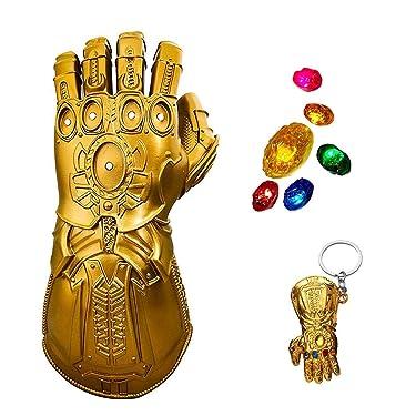 Infinity Gauntlet Glove Light Up Stones Gem Thanos Gauntlet Removable Glove