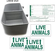 DryFur Kennel Travel Kit for Pets - Hook-On Dish & Live Animal Labels