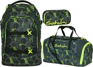 Sporttasche /& Schlamperbox Satch Pack Off Road 3er Set Schulrucksack