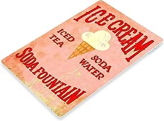 Tinworld TIN Sign Ice Cream Soda Fountain Kitchen Carnival Fair Rustic Metal Décor C011