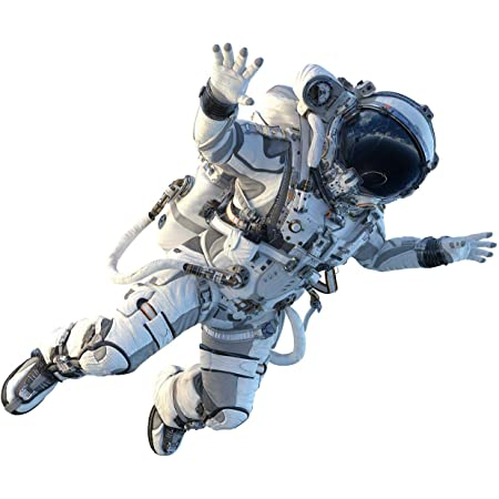 """12"""" Astronaut #1 Wall Decal Removable Wall Sticker for Boys Bedroom Playroom Decor Futuristic Space Sci Fi Cosmonaut"""