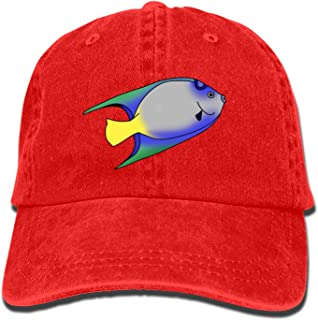 Fish Animated Png Classic Washed Cotton Baseball Cap Hip Hop Adjustable Cowboy Cap