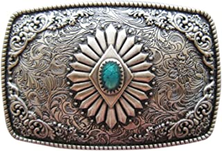 Vintage Silver Plated Original Southwest Belt Buckle also Stock in US