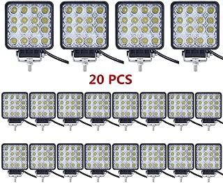 Led Light Bar,Lumitek 20PCS 4inch 48W Led Work Light Square Flood lights Off-road Lights Led lights for Trucks,Off-road Vehicle, ATV, SUV, UTV, 4WD, Jeep, Boat and more …