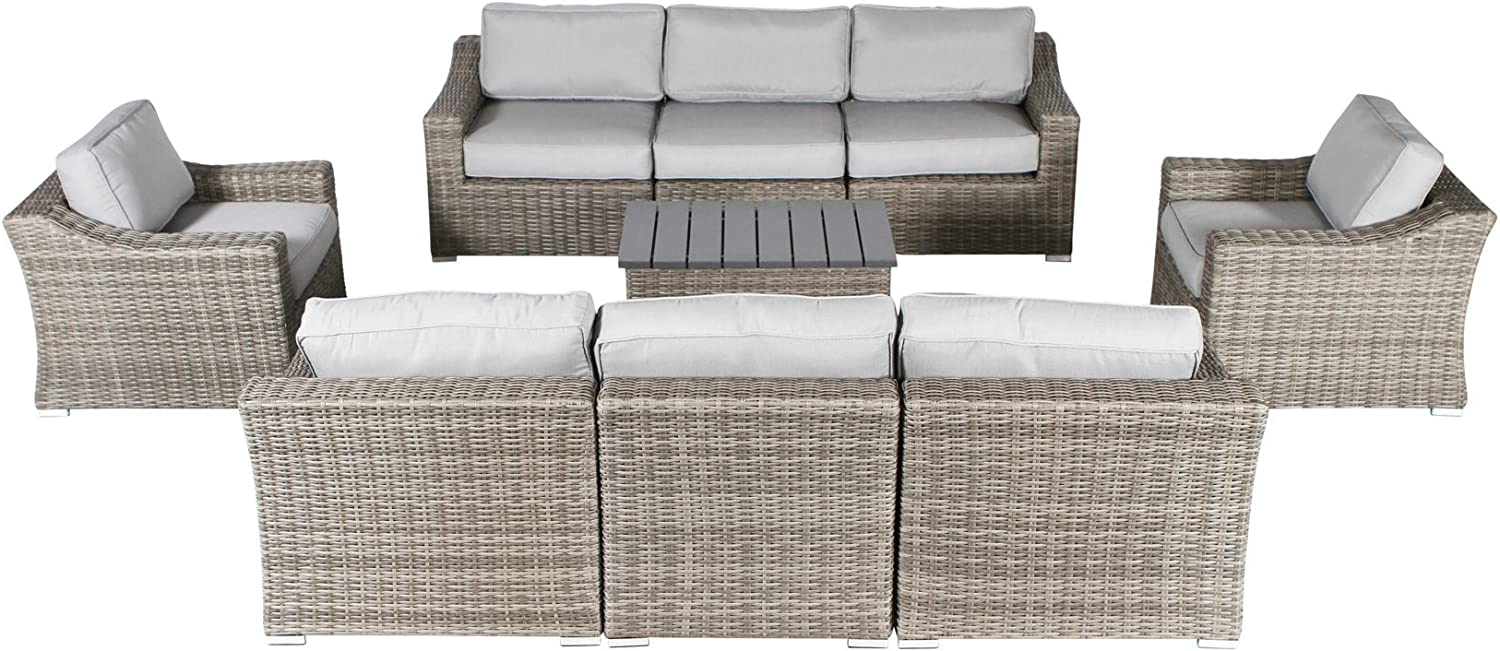 Century Modern Outdoor safety Marina Outlet SALE Collection Set Patio Sofa Wicker