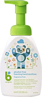 Babyganics Alcohol-Free Foaming Hand Sanitizer, Pump Bottle, Fragrance Free, 8.45 oz, Packaging May Vary