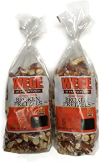 Wege Sourdough Broken Pretzels, 15 Oz. Bags (Pack of 2)