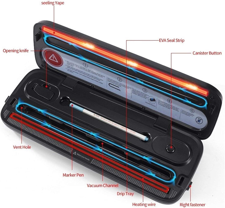 Best Electric Vacuum Sealer Packaging Machine for Home Kitchen FoodSaver Bags Commerciële Vacuum Voedsel Sealing (Color : Black 2) Black 2