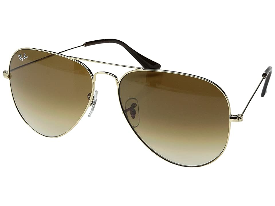 Ray-Ban RB3025 Original Aviator 62mm (Gold/Crystal Brown Gradient) Metal Frame Fashion Sunglasses