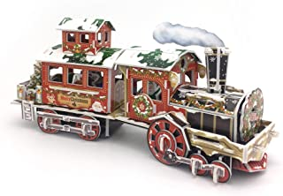 Nosto Fabulous Christmas Train Model - with LED Lights - 3D Puzzle