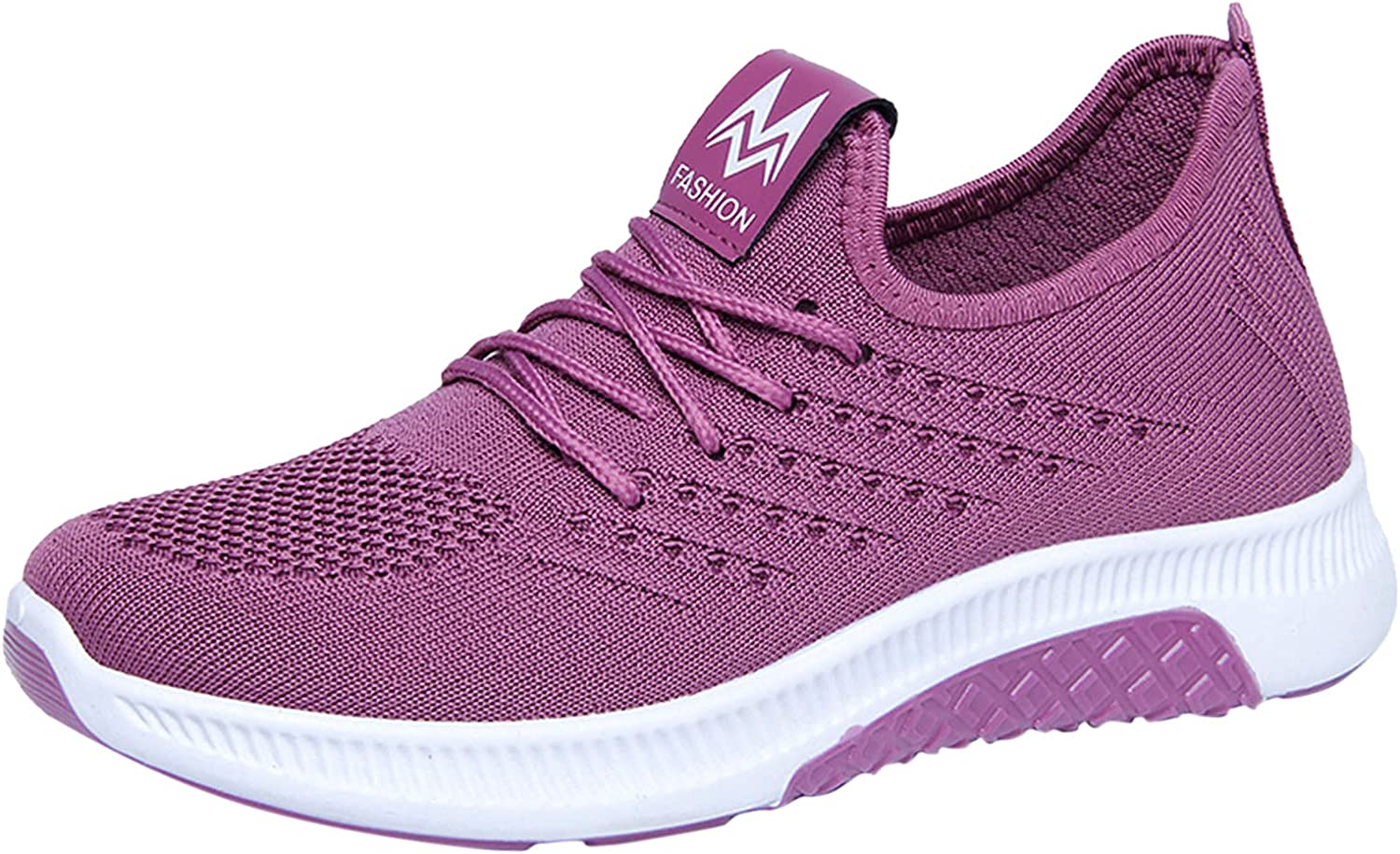 Now free shipping Women's Slip On Walking Shoes Lace Sneakers Breathable Fees free Up Ladies
