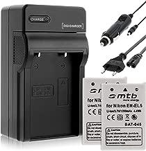 Secteur, USB Double Chargeur P530 .. P520 pour Nikon EN-EL5 // Coolpix P500 inclus P510 2A Bloc dalimentation 2 amp/ère