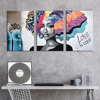 wall26 – 3 Panel Canvas Wall Art – Triptych Street Graffiti Series –..