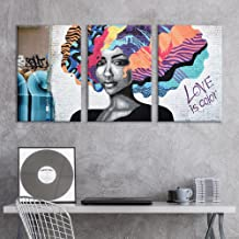 wall26 - 3 Panel Canvas Wall Art - Triptych Street Graffiti Series - Love is Color - Giclee Print Gallery Wrap Modern Home Decor Ready to Hang - 16