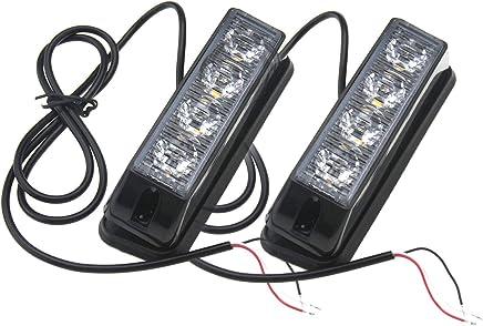 12V 24V Rundumleuchte 40 LED Blitzleuchte 7 Modus Magnetische Doppelter Schraube mit 5m Netzkabel Amber Warnleuchte Notfallblinklampe Wiederherstellungswarnung gelbes Licht der Decke