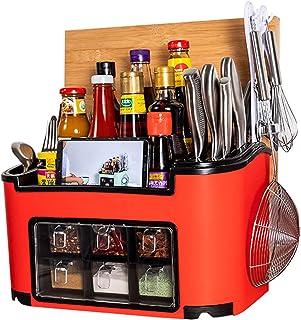 MTHDD Support de Rangement de Cuisine Multifonctionnel Stockage d'assaisonnement Boîte à épices Support à épices Organisat...