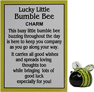 Ganz Lucky Little Bumble Bee Charm with Story Card yellow