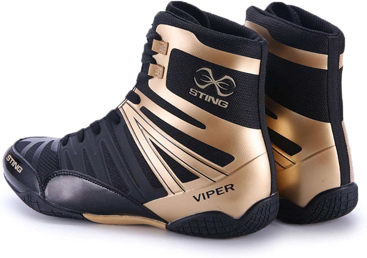 Amoda Mens Breathable Boxing Shoes Wrestling Shoes High-top Non-Slip Professional Training Shoes Squat Shoes