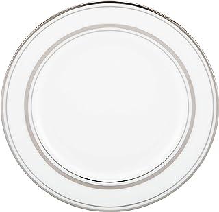 KATE SPADE Library Lane Platinum Bread Plate, 0.5 LB, White