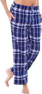 Women's Flannel Pajama Pants, Long Cotton Pj Bottoms