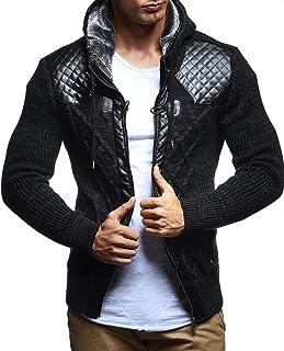 Leif Nelson Men Cardigan Jacket Hood LN-5355