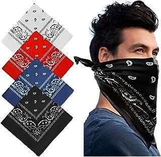 Cowboy Bandanas - Novelty Cotton Bandanas Paisley Bandanas Printed Headwrap Scarf Multi-Purpose Double-Sided For Men Womens