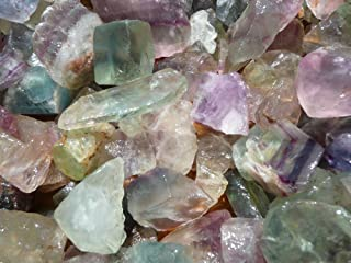 Fantasia Materials: 1 lb Rainbow Fluorite Rough Stones from China