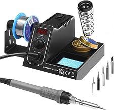 Molangfushi Weller Portable 110V 60W r/églable Temp/érature galvaniques Fer /à souder Pistolet avec 5pcs Conseils Electric Digital