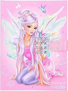 Depesche TOPModel Fantasy 11519 - Diario con código y sonido, aprox. 20,5 x 15 x 3 cm, 80 páginas a rayas, multicolor