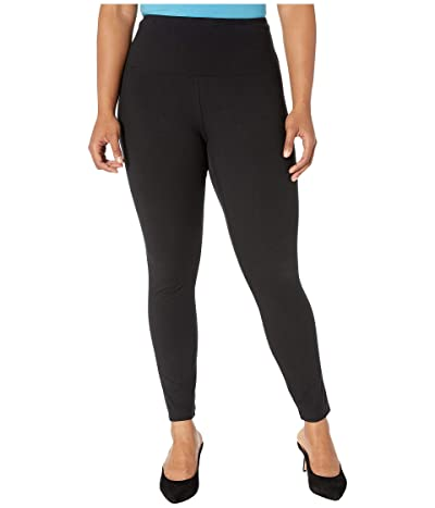 Lysse Plus Size Cotton Leggings (Black) Women