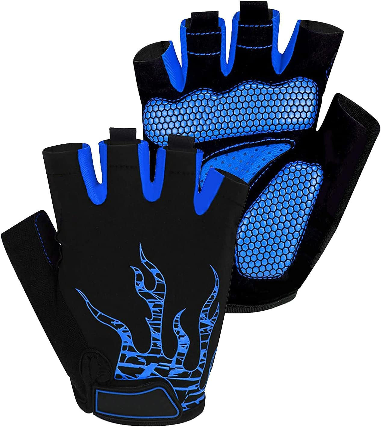 Voroar Cycling Gloves, Half Finger Mountain Bike Gloves with Shock-Absorbing Gel Pad for Men and Women