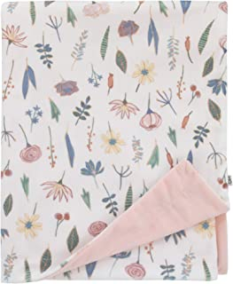 ED Ellen DeGeneres Painterly Floral - Soft Plush Pink & White Multi Floral Velboa Baby Blanket, Pink, White, Green, Blue