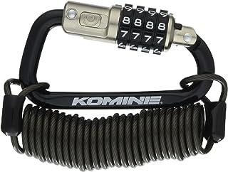 コミネ(KOMINE) バイク用 セキュリティロック カラビナワイヤーロック ブラック LK-115