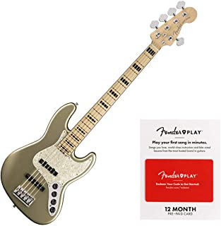 Fender American Elite Jazz Bass V (Single/Champagne)