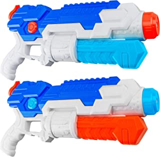 HDJUNTUNKOR Water Gun for Kids, 2 Pack Squirt-Gun for Adults 40 Ft Long Range Water Blaster for Teens Beach Swimming Pool Water Fighting Toy - 800CC Capacity