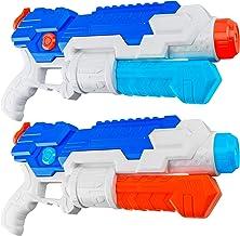 HDJUNTUNKOR Super Water Gun for Kids, 2 Pack WaterSoaker Blaster Squirt-Gun for Adults..