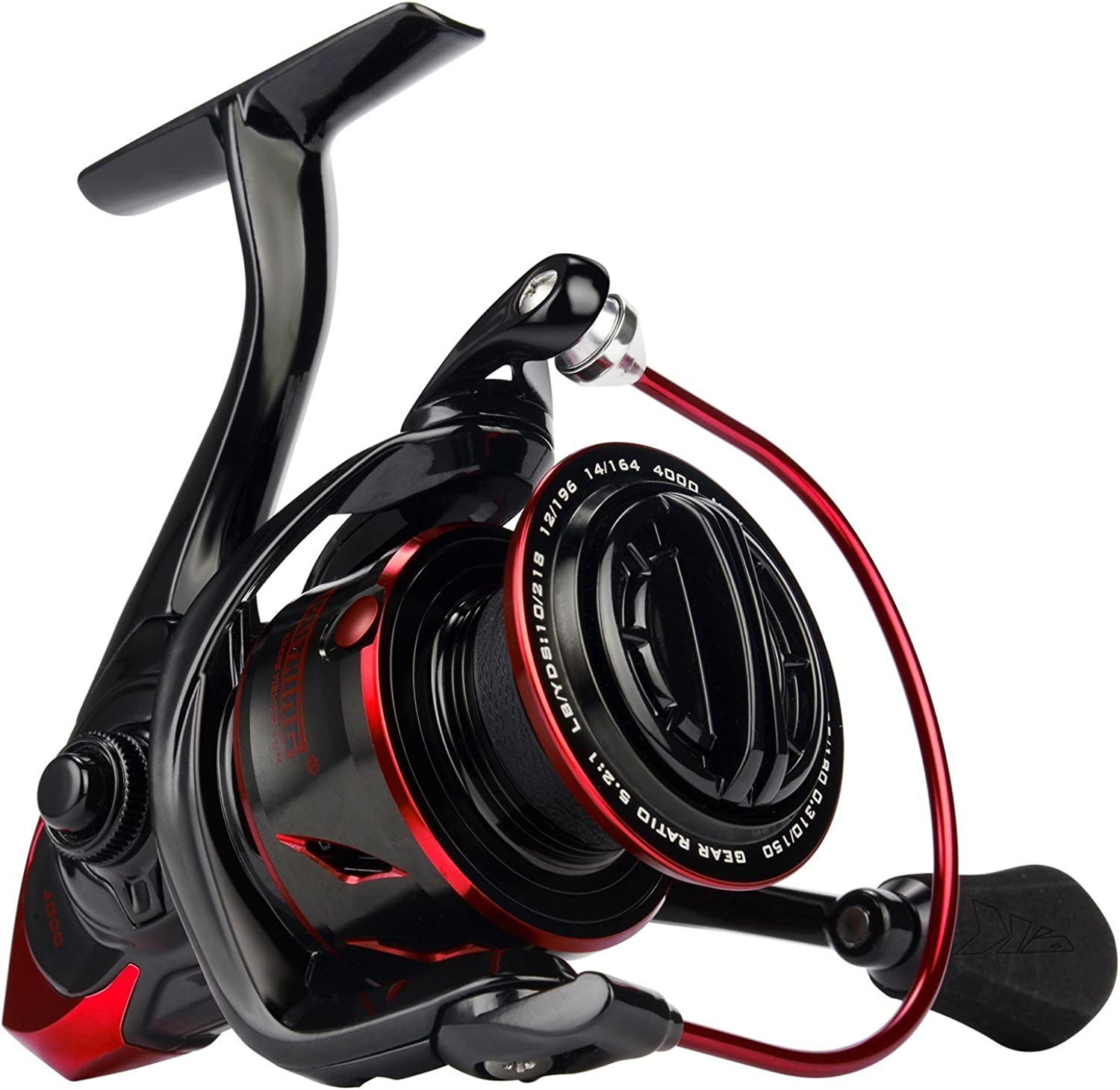 KastKing Sharky III Fishing Reel  New 2018 Spinning Reel  Carbon Fiber 39.5 lbs Max Drag  10+1 Stainless BB for Saltwater Or Freshwater