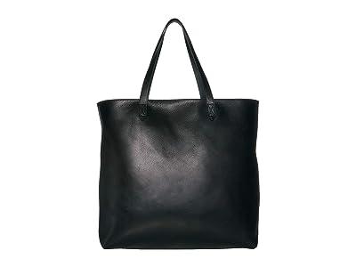 Madewell Zip Top Transport Tote (True Black) Tote Handbags