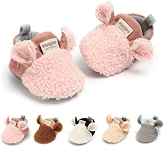 Infant Baby Boys Girls Slippers Non Slips Bottom Winter Booties Stay On Newborn Crib House Shoes