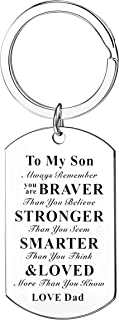 Motivational Gifts Always Remember You Are Braver Stronger Smarter Keychain Gifts For Son From Dad Mom