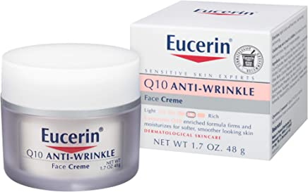 Eucerin Q10 Anti-Wrinkle Face Cream - Fragrance Free, Moisturizes for Softer Smoother Skin
