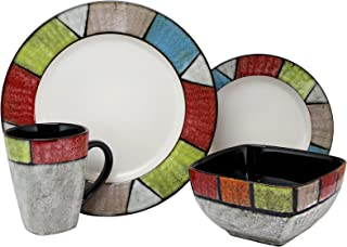 Best elama's country cottage16 piece stoneware dinnerware set Reviews