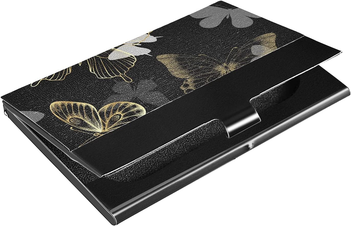 OTVEE Golden Butterflies Business Card Colorado Springs Purchase Mall S Wallet Holder Stainless