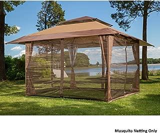 Sunjoy S-GZ001-E-MN 10' x 10' Mosquito Netting Panels for Gazebo Canopy