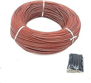 DZF697 Câble Chauffant Infrarouge de 1PC 100 m 12K 33OHM / M Fil de Chauffage en Fibre de Carbone en Silicone pour Sol Cha...