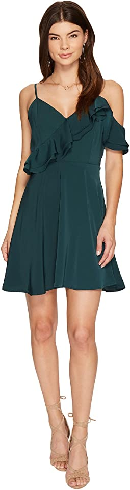 J.O.A. - Double Ruffle Fit & Flare Dress